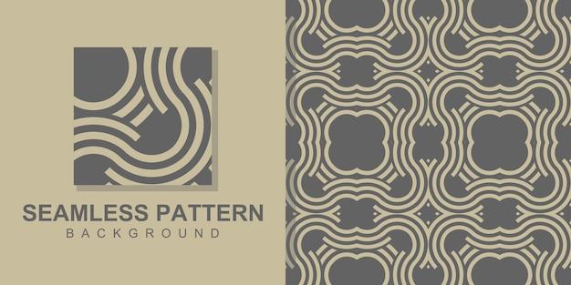 원형 모양으로 사각형 개념 기하학적 원활한 패턴 배경