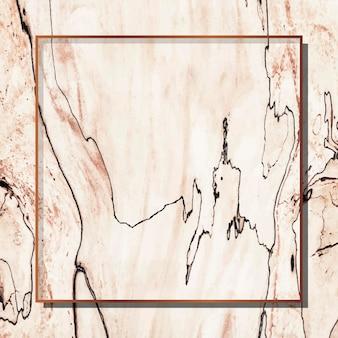 Cornice quadrata in rame su fondo beige Vettore gratuito