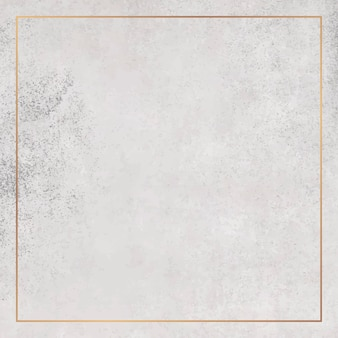 Square copper frame on grunge background