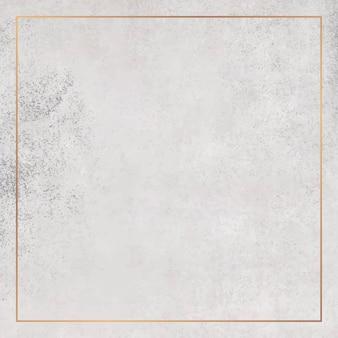 グランジ背景の正方形の銅フレーム