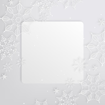 Square copy space winter background in paper style