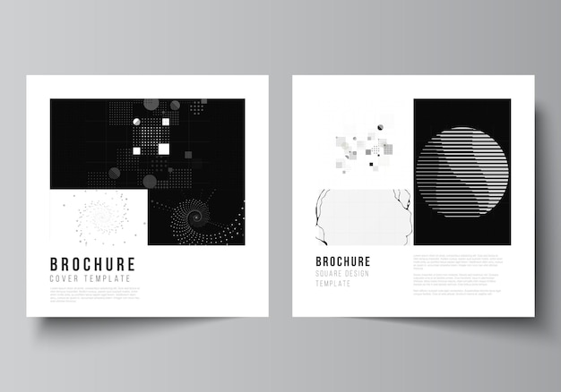 Square covers templates for book design
