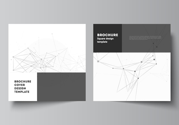 Square covers templates for brochure