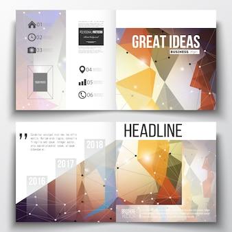 Square design brochure template