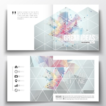 Square design brochure templates