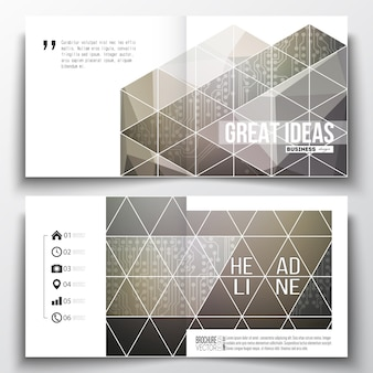 Square design templates for brochure