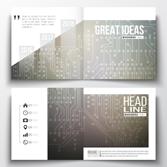 Square design templates for brochure.
