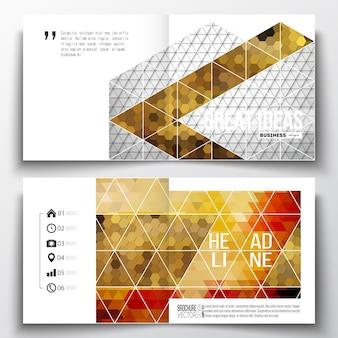 안내 책자에 대 한 사각형 디자인 서식 파일
