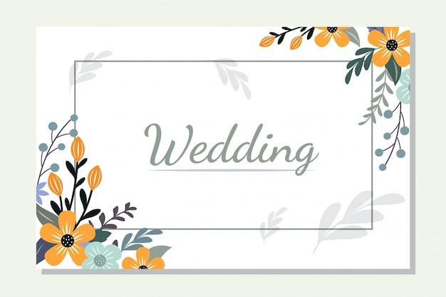 Square flower frame border design illustration
