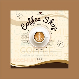 Квадратный флаер для кафе