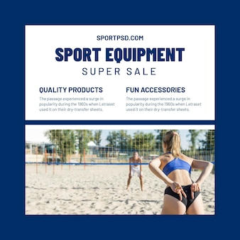 Square flyer template for beach volleyball
