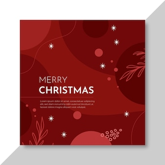 Square flyer template for christmas