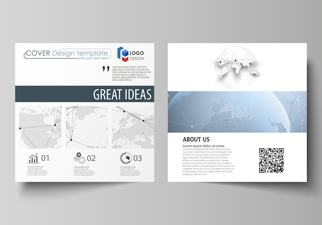 Square format covers templates for brochure