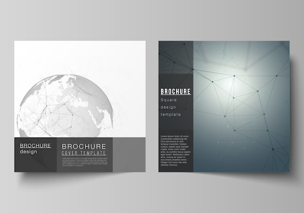 Square format templates for brochure