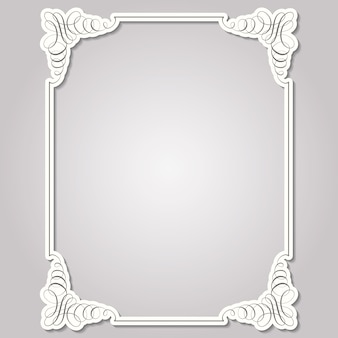Square frame in calligraphic retro style