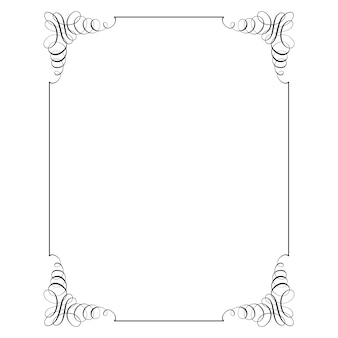 Square frame in calligraphic retro style.