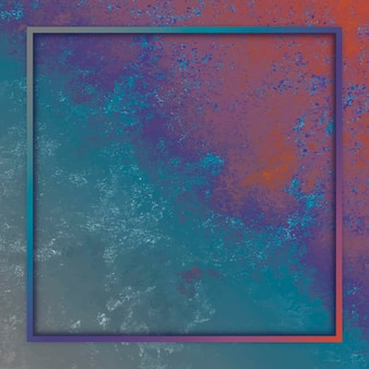 Square frame on colorful background
