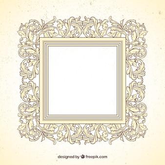Квадратная рамка в стиле декоративного