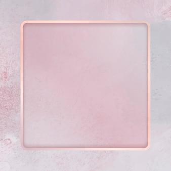 ピンクの背景に正方形のフレーム