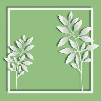 Square frame with spring leafs