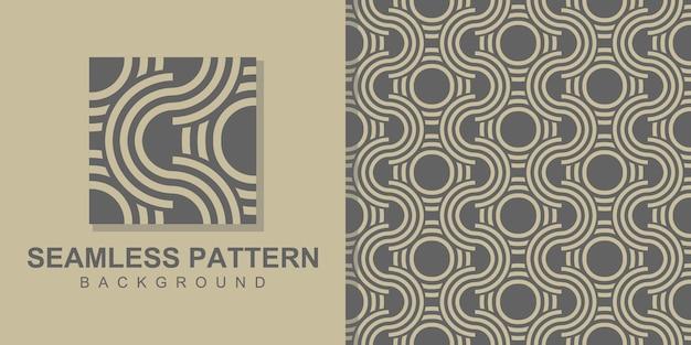 원형 모양으로 사각형 기하학적 완벽 한 패턴 배경