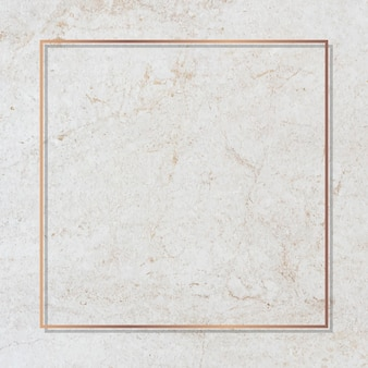Square gold frame on a marble vector