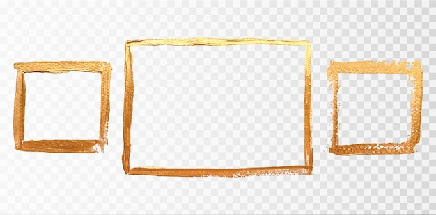 Square gold frame set