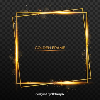 Square golden frame