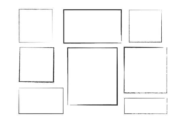 Square grunge frame dirty frame design element for banner message invitation greeting card