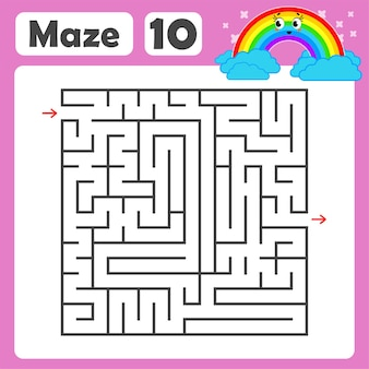 A square labyrinth for kids.