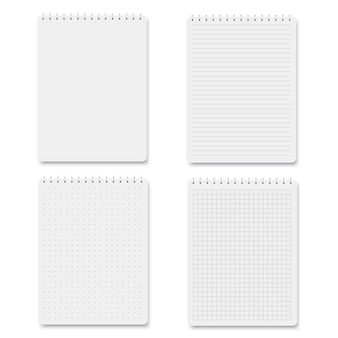 Square, lined paper blank sheets.
