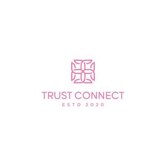 手紙tcデザインベクトルテンプレートと正方形のロゴライン