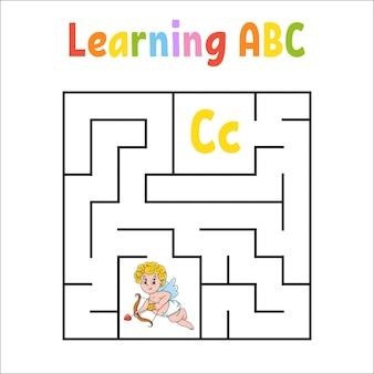 Квадратный лабиринт. рабочий лист образования.
