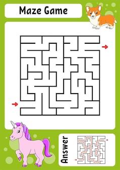 Квадратный лабиринт игра для детей забавный лабиринт