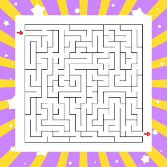 Квадратный лабиринт игра для детей. пазл для детей. загадка лабиринта.