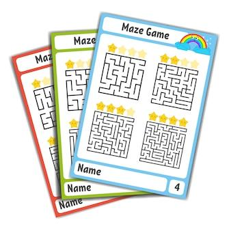 Квадратный лабиринт. игра для детей. пазл для детей.
