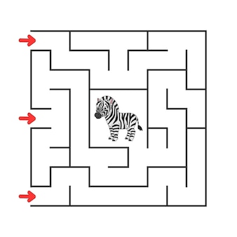 Квадратный лабиринт. игра для детей