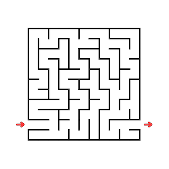 Square maze game for kids puzzle for children labyrinth conundrum