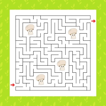 Square maze. game for kids. puzzle for children.