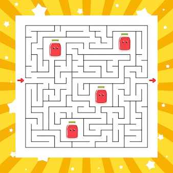 Square maze. game for kids. puzzle for children