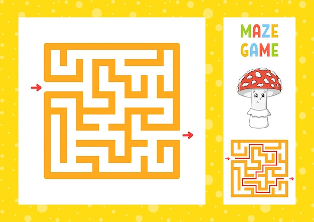 Square maze game for kids puzzle for children