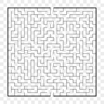 Square maze worksheet for kids