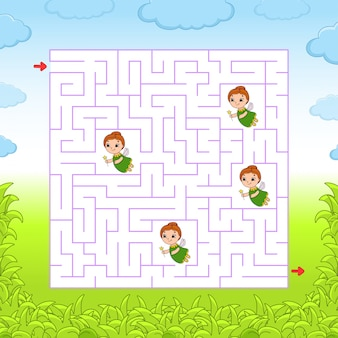 Square maze worksheet