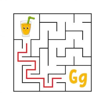 Square maze.
