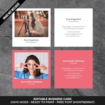 Square minimal business card