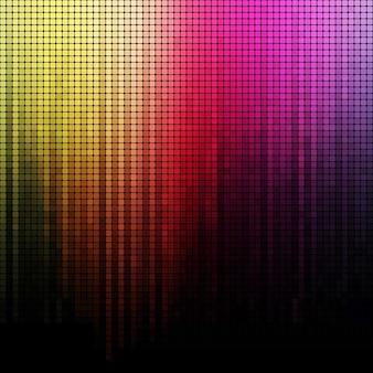 正方形のモザイクの背景虹色