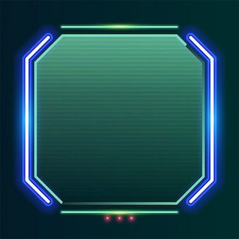 Square neon banner