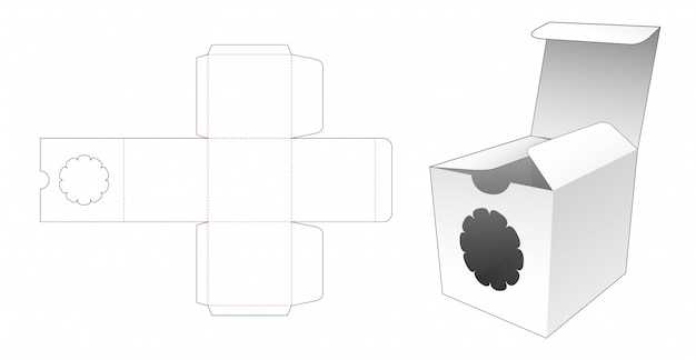 Квадратная упаковка с высечкой из цветочного окна
