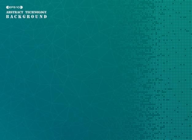 Квадратная модель современного цифрового фона в синем градиенте.