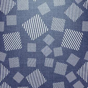 Квадратный узор на ткани, абстрактные геометрические фон. креативный и роскошный стиль иллюстрации